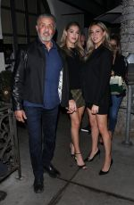 SOPHIA and SISTINE STALLONE at Madeo Restaurant in Beverly Hills 02/01/2020
