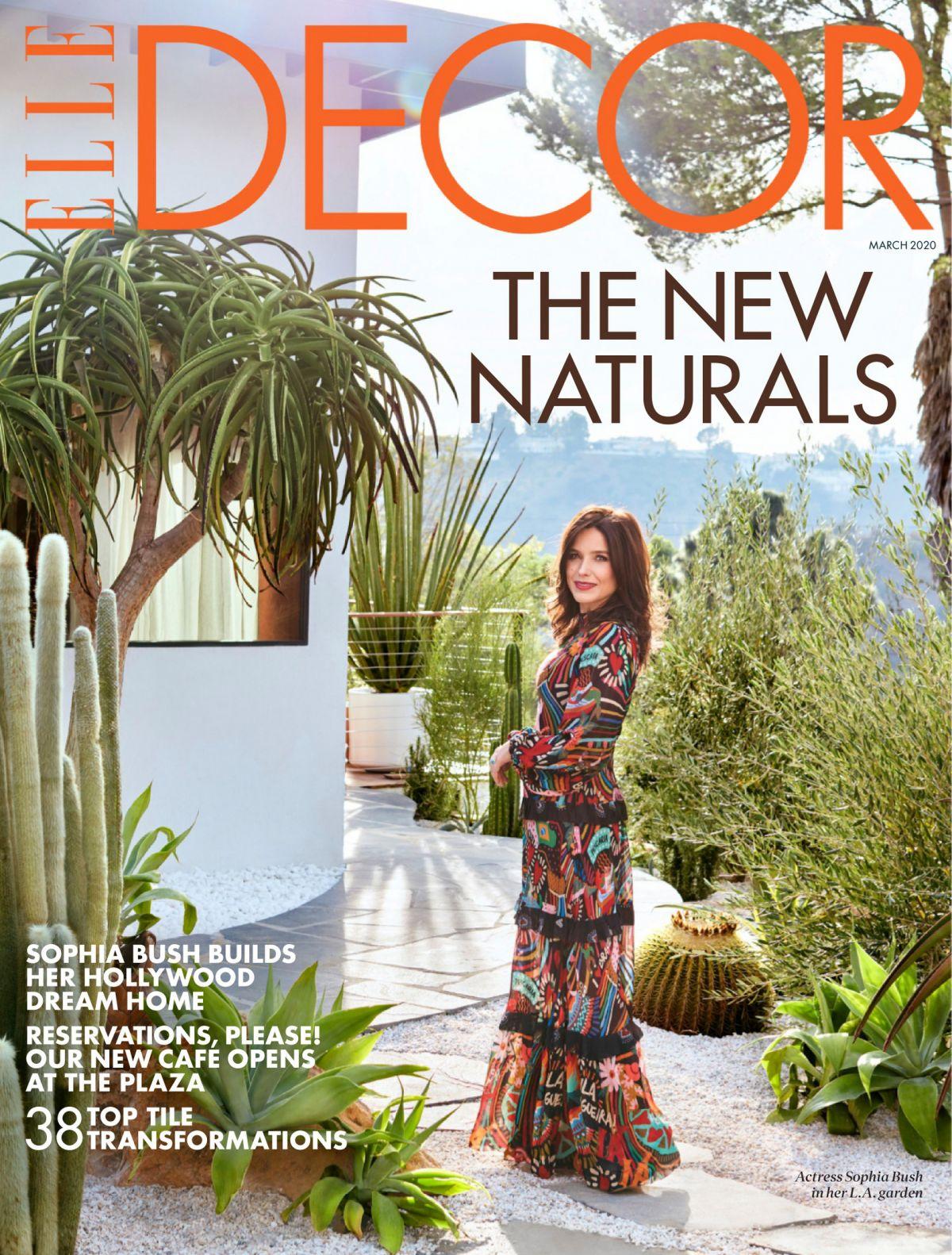 SOPHIA BUSH in Elle Decor Magazine, March 2020 - HawtCelebs