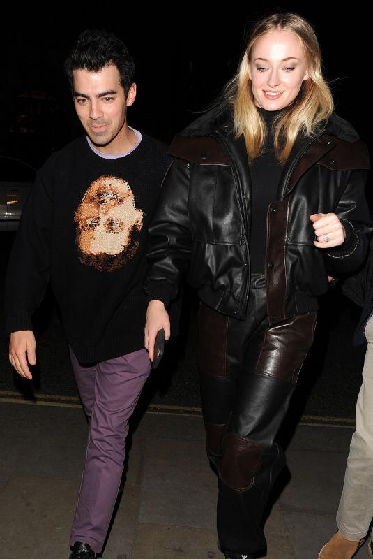 SOPHIE TURNER and Joe Jonas Arrives at Their Hotel 04/02/2020