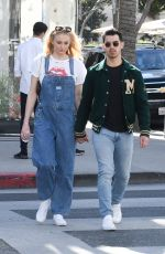 SOPHIE TURNER and Joe Jonas Shopping at Louis Vuitton and Versace in Beverly Hills 02/28/2020