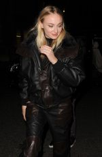 SOPHIE TURNER Night Out in London 02/04/2020