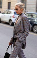 STELLA MAXWELL Arrives at Etro Fashion Show in Milan 02/20/2020