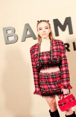 SYDNEY SWEENEY at Balmain Fashion Show at PFW in Paris 02/28/2020