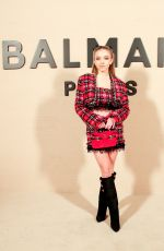 SYDNEY SWEENEY at Balmain Fashion Show at PFW in Paris 02/28/2020