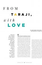 TARAJI P. HENSON in Essence Magazine, March 2020