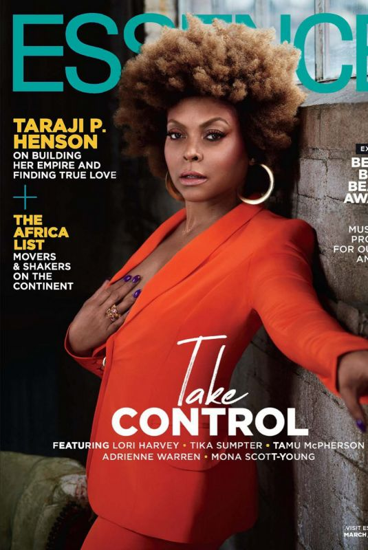 TARAJI P. HENSON in Essence Magazine, March 2020