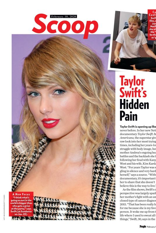 TAYLOR SWIFT in People Magazine, February  2020