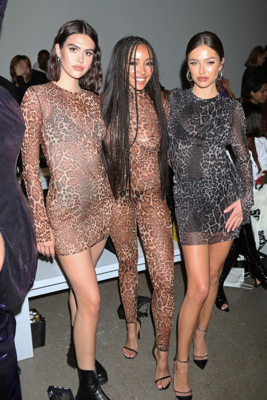 TINASHE and AMELIA and DELILAH HAMLIN at Laquan Smith Fashion Show in New York 02/08/2020