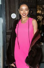 TINASHE at Helmut Lang and Libertine Fashion Show in New York 02/10/2020