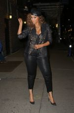 TYRA BANKS Leaves Late Show with Stephen Colbert in New York 02/24/2020