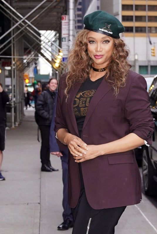TYRA BANKS Out and About in New York 02/24/2020