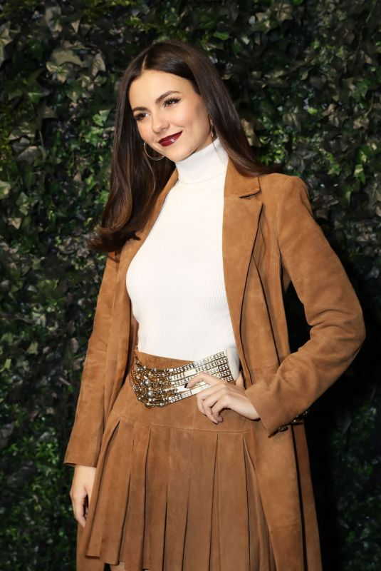 VICTORIA JUSTICE at Alice & Olivia Fashion Show at NYFW in New York 02/10/2020
