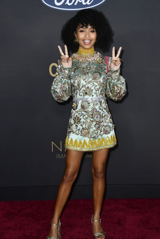 YARA SHAHIDI at 51st Naacp Image Awards in Pasadena 02/22/2020