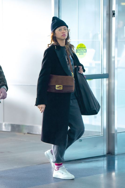 ZENDAYA at JFK Airport in New York 02/16/2020