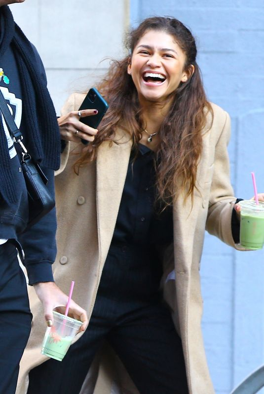 ZENDAYA Out and About in New York 02/03/2020