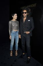 ZOE and Lenny KRAVITZ at Saint Laurent Fashion Show at PFW in Paris 02/25/2020