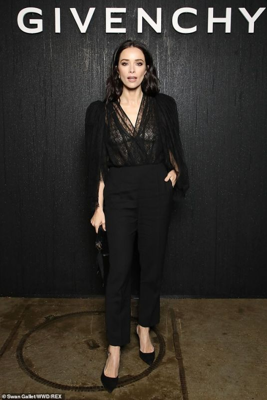 ABIGAIL SPENCER at Givenchy Fashion Show in Paris 03/01/2020