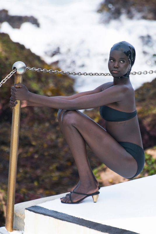 ADUT AKECH in Bikini at a Photoshoot at Bondi Icebergs Pool 12/13/2020
