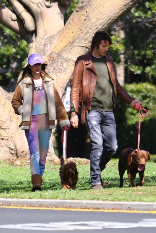 ALESSANDRA AMBROSIO and Nicolo Oddi Out with Their Dogs in Santa Monica 03/17/2020