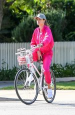 ALESSANDRA AMBROSIO Out Riding a Bike in Santa Monica 03/19/2020