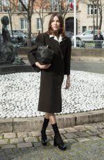 ALEXA CHUNG Arrives at Miu Miu Show at Paris Fashion Week 03/03/2020