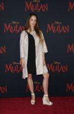 ALEXIS KNAPP at Mulan Premiere in Los Angeles 03/09/2020
