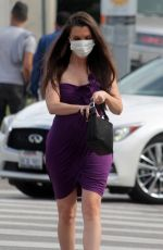 ALICIA ARDEN Wearing a Medical Mask Out in Los Angeles 03/06/2020