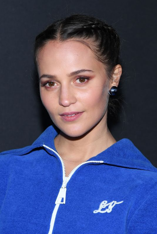 ALICIA VIKANDER at Louis Vuitton Show at Paris Fashion Week 03/03/2020