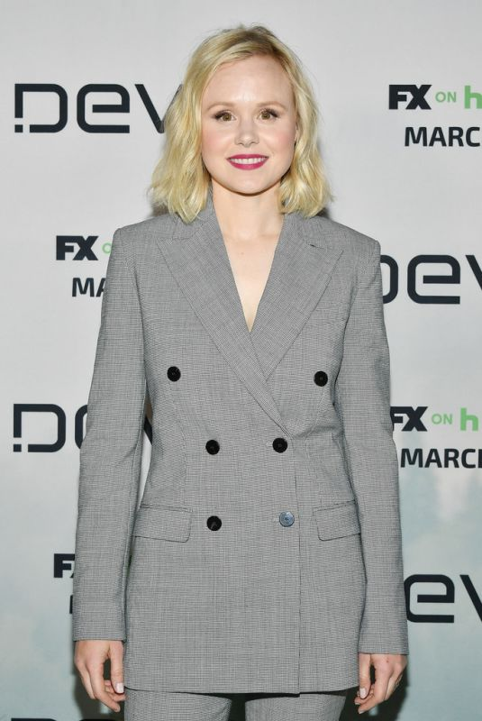 ALISON PILL at Devs Premiere in Hollywood 03/02/2020