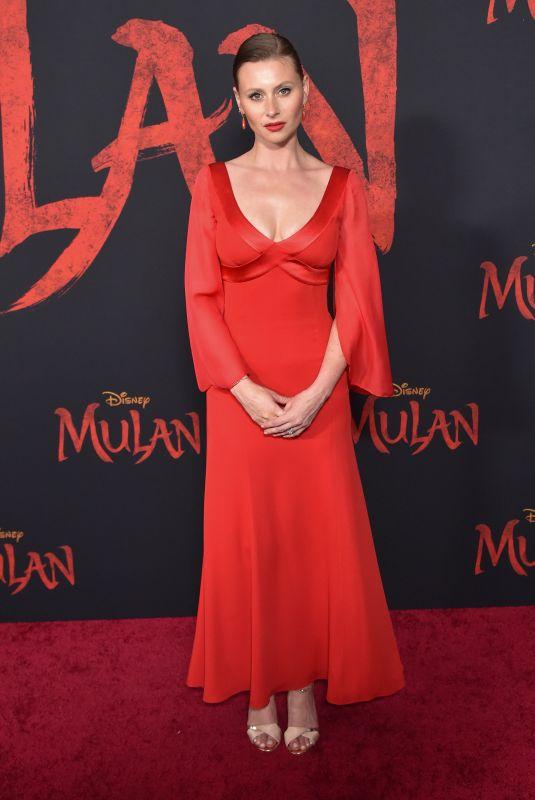 ALY MICHALKA at Mulan Premiere in Hollywood 03/09/2020