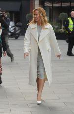 AMANDA HOLDEN Arrives at Global Radio in London 03/11/2020