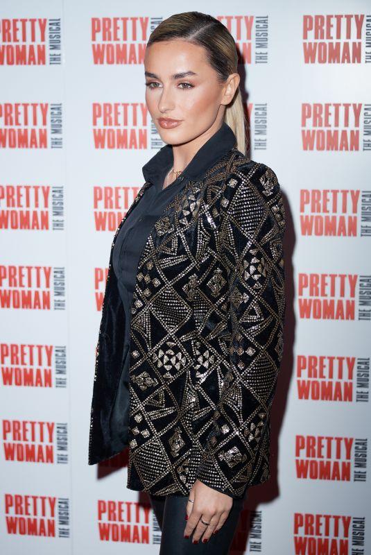 AMBER DAVIES at Pretty Women Press Night in London 03/02/2020