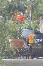 AMBER HEARD and BIANCA BUTTI Out Gardening at Her Home in Los Angeles 03/28/2020