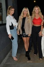 AMBER TURNER, CHLOE MEADOWS and COURTNEY GREEN at Cecconi