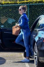 AMY ADAMS in Double Denim Out in Beverly Hills 03/04/2020
