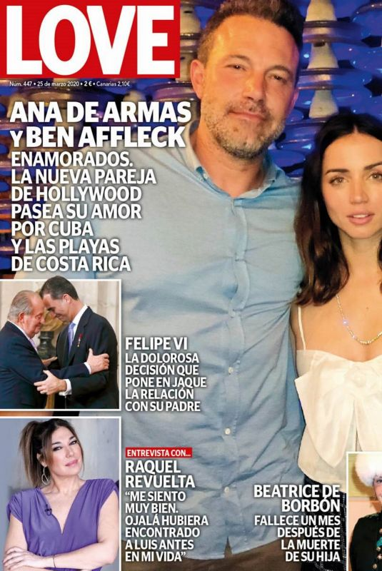 ANA DE ARMAS and Ben Affleck in Love Magazine, March 2020