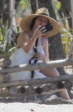 ANA DE ARMAS Taking Selfies at a Beach in Costa Rica 03/11/2020