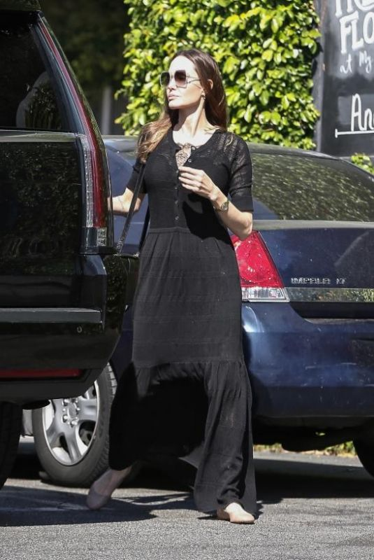 ANGELINA JOLIE Out and About in Los Angeles 03/08/2020