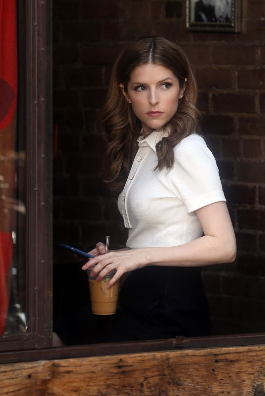 ANNA KENDRICK on the Set of Love Life in New York 03/13/2020