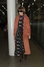 ANNA WINTOUR Arrives Back in London 03/04/2020