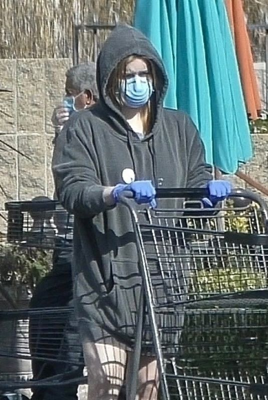 ARIEL WINTER with a Mask Shopping at Gelson's Market in Los Angeles 03/29/2020