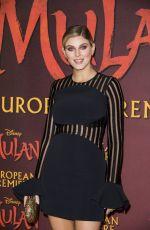 ASHLEY JAMES at Mulan Premiere in London 03/12/2020