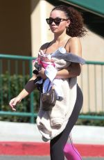 ASHLEY MOORE Leaves Hot Pilates Class in Los Angeles 03/02/2020