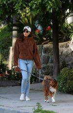 AUBREY PLAZA and Jeff Baena Out with Their Dogs in Los Angeles 03/26/2020