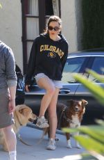 AUBREY PLAZA Out with Her Dogs in Los Angeles 03/24/2020