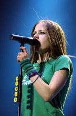 AVRIL LAVIGNE Performs at Try to Shut Me Up Tour in Dublin 03/24/2003