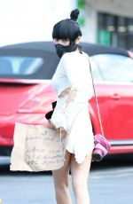 BAI LING Wearing a Mask Out in Los Angeles 03/21/2020