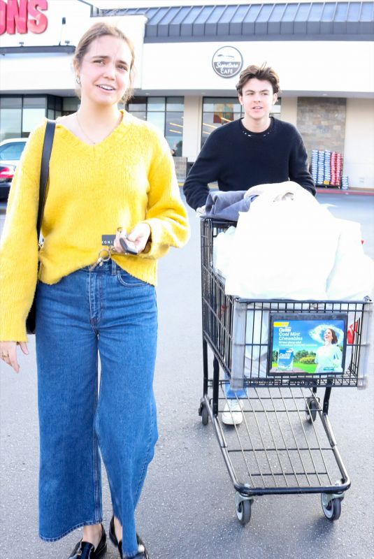 BAILEE MADISON and Blake Richardson Out Shopping in Studio City 03/19/2020