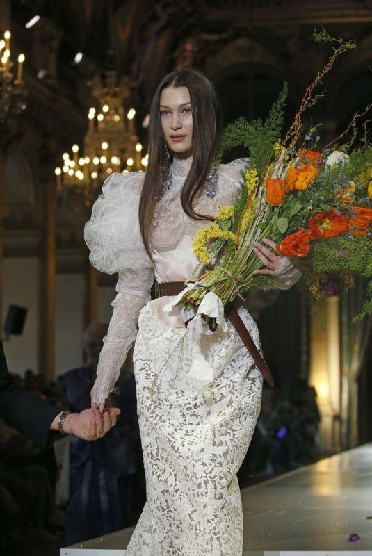 BELLA HADID at Vienne Westwood Runway Show at Paris Fashion Week 02/29/2020