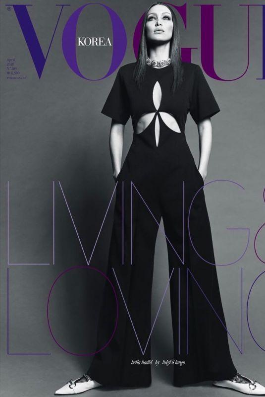 BELLA HADID in Vogue Magazine, Korea April 2020